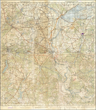 Germany and World War II Map By General Staff of the Red Army