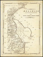 Delaware Map By Mathew Carey