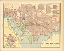 Washington, D.C. Map By People's Publishing Co.