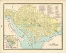 Washington, D.C. Map By George F. Cram