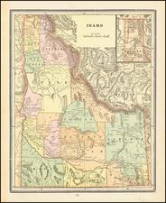 Idaho Map By George F. Cram