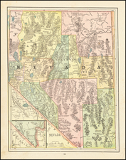 Nevada Map By George F. Cram