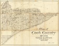 Minnesota Map By C. P. Frank