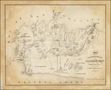 California and San Francisco Map By Clement Humphreys  &  Alexander Zakreski