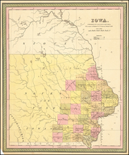 Iowa Map By Samuel Augustus Mitchell