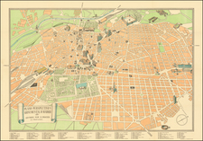 Spain and Pictorial Maps Map By E. Cruces