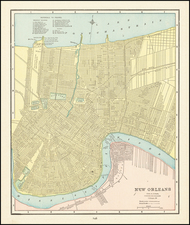 Louisiana Map By George F. Cram