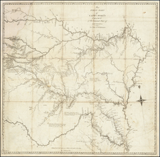 Louisiana, Arkansas, Texas, Kansas, Missouri, Nebraska and Oklahoma & Indian Territory Map By Zebulon Montgomery Pike