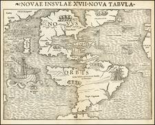 Western Hemisphere and America Map By Sebastian Munster