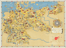 Germany and World War II Map By Riemer