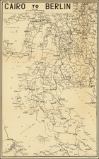 Germany, Central & Eastern Europe, Middle East, Egypt and World War II Map By C. P. D.