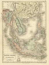 Asia, China, Southeast Asia and Philippines Map By Adam & Charles Black
