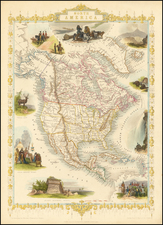 North America Map By John Tallis