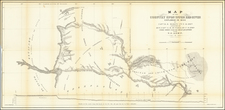 Texas and Oklahoma & Indian Territory Map By R.B. Marcy