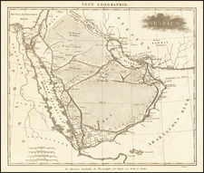 Middle East and Arabian Peninsula Map By Schleiben