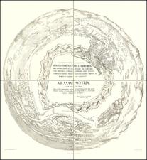 Austria Map By Heinrich Schmidt / Albert Camesina