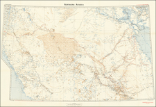 Middle East and Arabian Peninsula Map By Royal Geographical Society