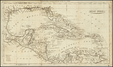 Caribbean Map By John Payne