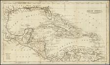 Caribbean Map By John Payne