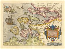 Zelandicarum Insularum Exactissima Et Nova Descriptio, Auctore D. Iacobbo a Deventria By Abraham Ortelius
