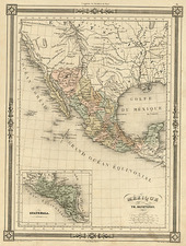 Texas, Southwest, Rocky Mountains and California Map By Thunot Duvotenay