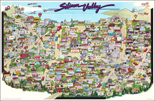 California and Other California Cities Map By City Graphics of America