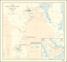 Middle East and Arabian Peninsula Map By Robert Ernest Cheeseman