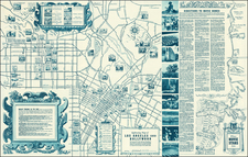 Los Angeles Map By The All-Year Club of Southern California