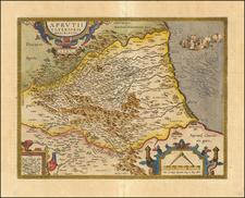 Aprutii Ulterioris Descriptio.   1590. By Abraham Ortelius