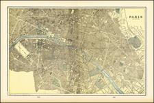 Paris Map By George F. Cram