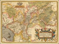 Gelriae, Cliviae, Finitimorum Que Locorum Verissima Descriptio Christiano Schrot. Auctore By Abraham Ortelius