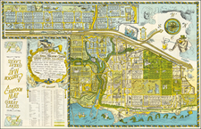 A Cartoon Map of the US. Naval Training Center at Great Lakes, Illinois Being As True and Faithful A Graphical Accounting As The Cartographer's Art Will Allow, Taking Into Careful Account Prominent Natural Features And Including Certain Man-Made Structures As Bridges, Roads, and Divers Buildings By Robert William Gadbois  &  Theodore Jerome Ritter