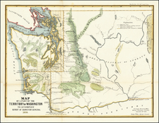 Washington Map By General Land Office / A. Hoen & Co.