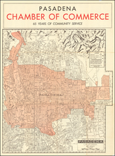 Los Angeles and Other California Cities Map By John L. Lynde