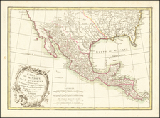 South, Texas, Southwest and Mexico Map By Jean Lattré