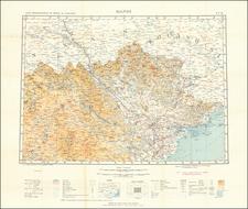 Thailand, Cambodia, Vietnam Map By Ministere des Travaux Publics