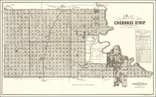 Sep. 8th 1893  Map of the Cherokee Strip.  Compiled From U.S. Surveys By E.W. Wiggins C.E. By Western Lithographing Co.