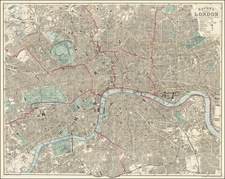 London Map By G.W. Bacon & Co.