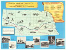 Nebraska and Pictorial Maps Map By Nebraska Centennial Commission