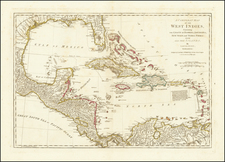 Florida, Caribbean and Central America Map By Laurie & Whittle