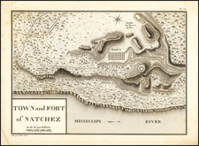 Mississippi Map By Victor George Henri Collot