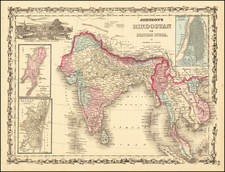 India and Southeast Asia Map By Benjamin P Ward  &  Alvin Jewett Johnson