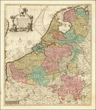 Netherlands Map By Reiner & Joshua Ottens