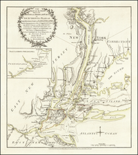 The Seat of Action between the British and American Forces. Or an Authentic Plan of the Western Part of Long Island, With the engagement of the 27th August 1776 Between the Kings Forces and the Americans . . . from Surveys of Major Holland By Sayer & Bennett