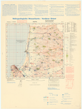 Holy Land and World War II Map By General Staff of the German Army
