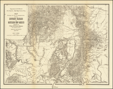 Southwest, Colorado, New Mexico, Rocky Mountains and Colorado Map By U.S. Government