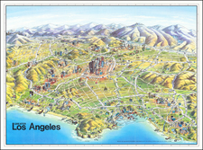 Pictorial Maps, California and Los Angeles Map By Unique Media