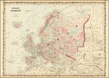 Europe Map By Benjamin P Ward  &  Alvin Jewett Johnson