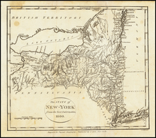 New York State Map By John Payne