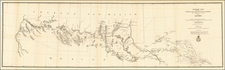Texas, Southwest, Arizona, New Mexico and California Map By L.C. Overman / U.S. Army Corps of Engineers